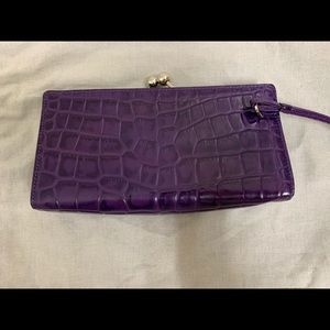 Burberry purple clutch purse